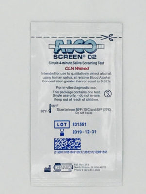 Alcoscreen 02 Package Front